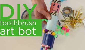 Create this fun art bot craft with an electric toothbrush!
