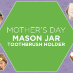 """Looking for a Mother's Day activity to make with the kiddos? This beautiful """"stained-glass"""" toothbrush holder is a fond memory you can cherish and use!"""