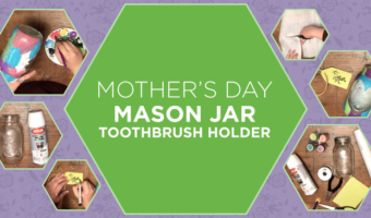"Looking for a Mother's Day activity to make with the kiddos? This beautiful ""stained-glass"" toothbrush holder is a fond memory you can cherish and use!"