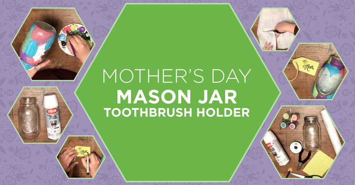 """Mother's Day """"Stained-Glass"""" Toothbrush Holder"""